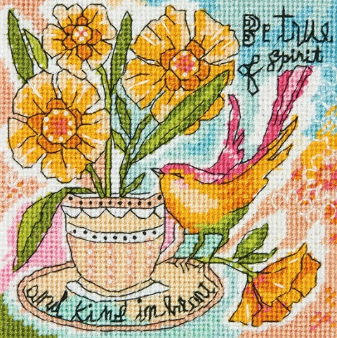 Be True of Spirit Tapestry Needlepoint Kit, Dimensions D71-07245