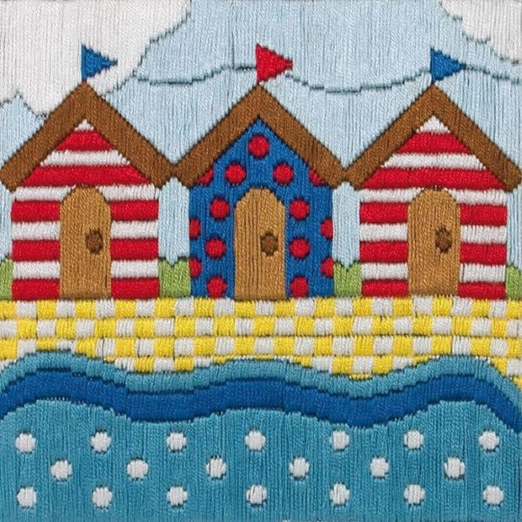 Beach Huts Long Stitch Kit, Anchor AL213