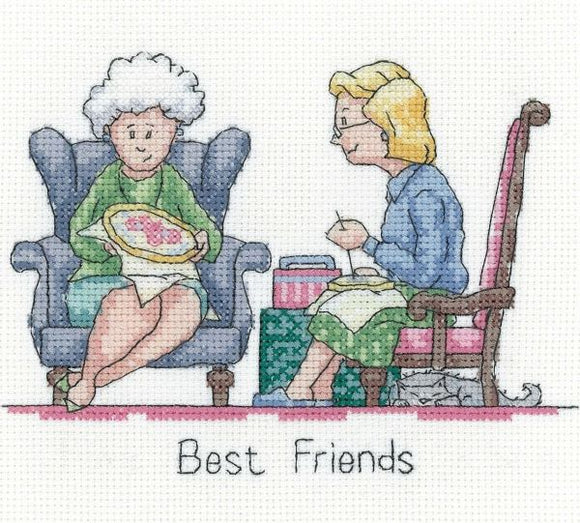 Best Friends Cross Stitch Kit, Heritage Crafts GYBF1583