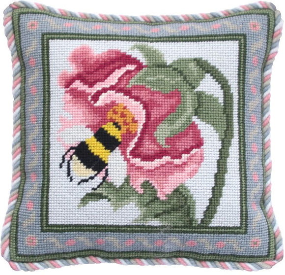 Beth Russell Needlepoint Tapestry Kit, Rose Garden Miniature Bee