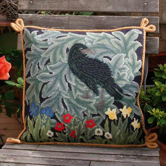 Beth Russell Needlepoint Tapestry Kit, William Morris Raven Cushion