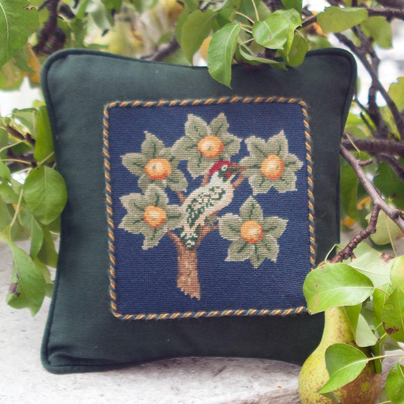 Beth Russell Needlepoint Tapestry Kit, William Morris Woodpecker Mini 1