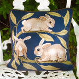 Beth Russell Needlepoint Kit Tapestry Kit, William de Morgan Rabbits