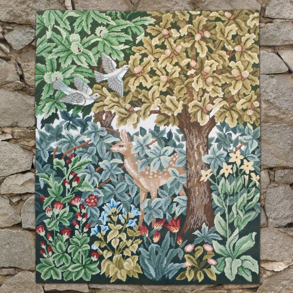 Beth Russell Needlepoint Tapestry Kit, Greenery Deer Wallhanging