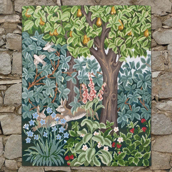 Beth Russell Needlepoint Tapestry Kit, Greenery Hares Wallhanging