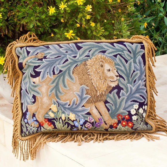 Beth Russell Needlepoint Tapestry Kit, Lion Wallhanging/ Cushion