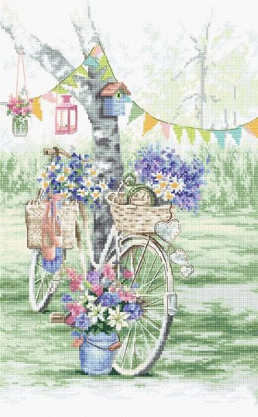 Bicycle Cross Stitch Kit (Luca-s) LetiStitch LETI971