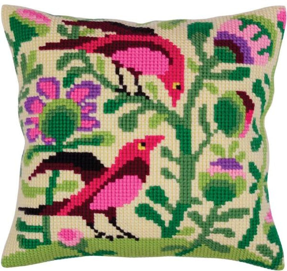 Birds Paradise Folk Art CROSS Stitch Tapestry Kit, Collection D'Art CD5295