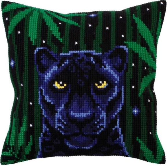 Night Jungle Panther CROSS Stitch Tapestry Kit, Collection D'Art CD5301