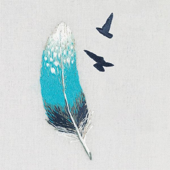 Blue Feather Embroidery Kit, Panna JK-2180