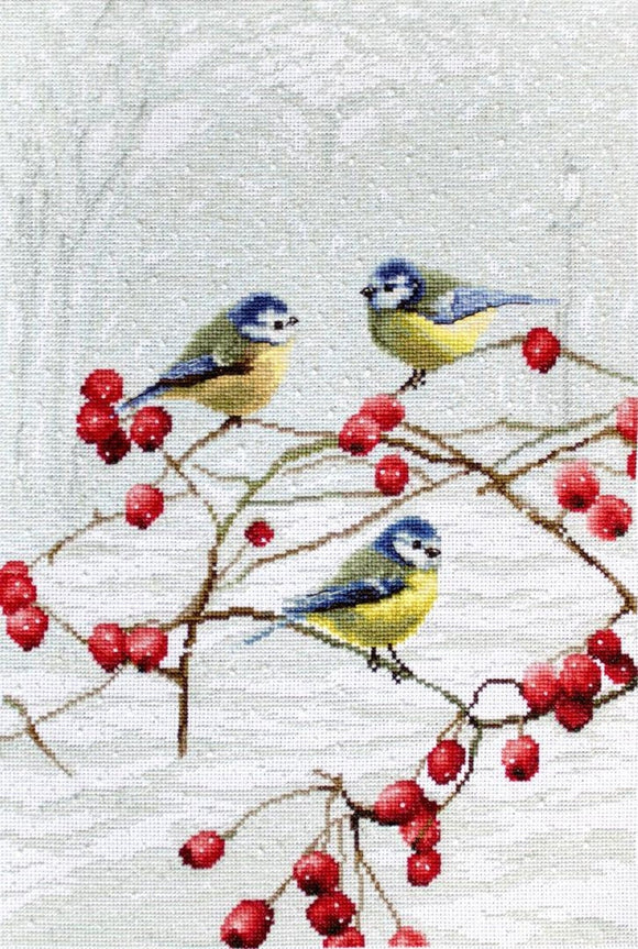 Bluetits Cross Stitch Kit (Luca-s) LetiStitch LETI942