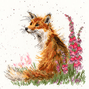 Cross Stitch Kit Amongst the Foxgloves, Hannah Dale Wrendale Designs XHD8