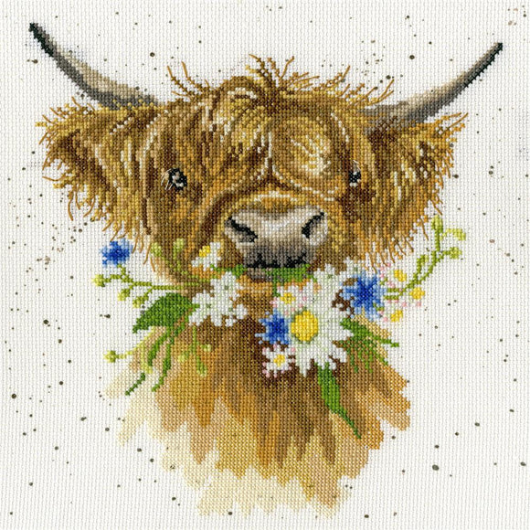 Cross Stitch Kit Daisy Coo, Hannah Dale Wrendale Designs XHD42