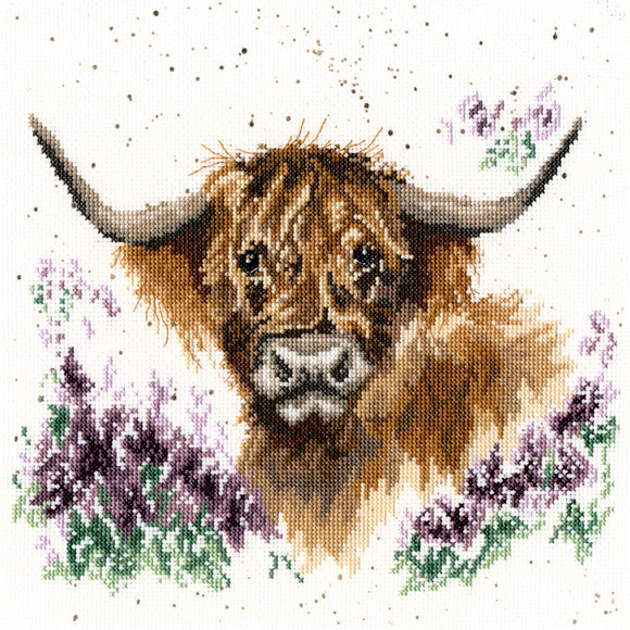 Cross Stitch Kit Highland Heathers, Hannah Dale Wrendale Designs XHD9