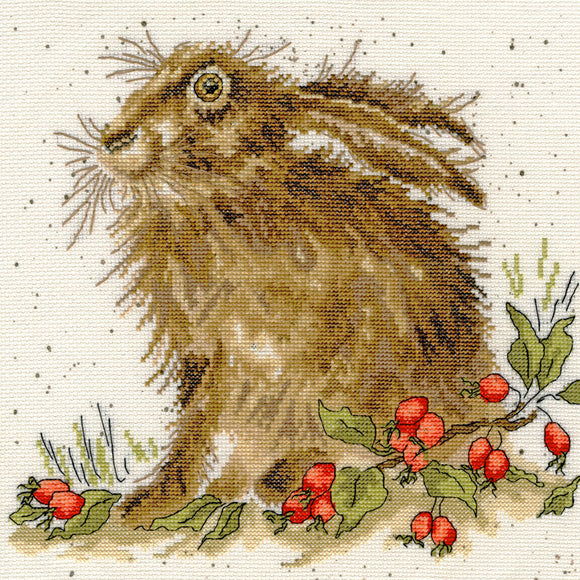 Cross Stitch Kit Hippy Hare, Hannah Dale Wrendale Designs XHD38