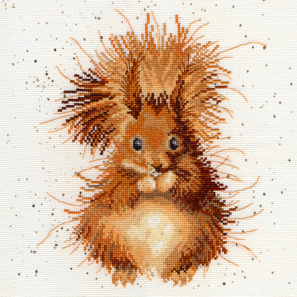 Cross Stitch Kit Nutcracker Squirrel, Hannah Dale Wrendale Designs XHD14