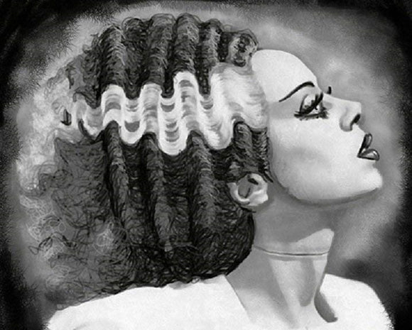 Bride of Frankenstein Cross Stitch Kit - Shayne of the Dead