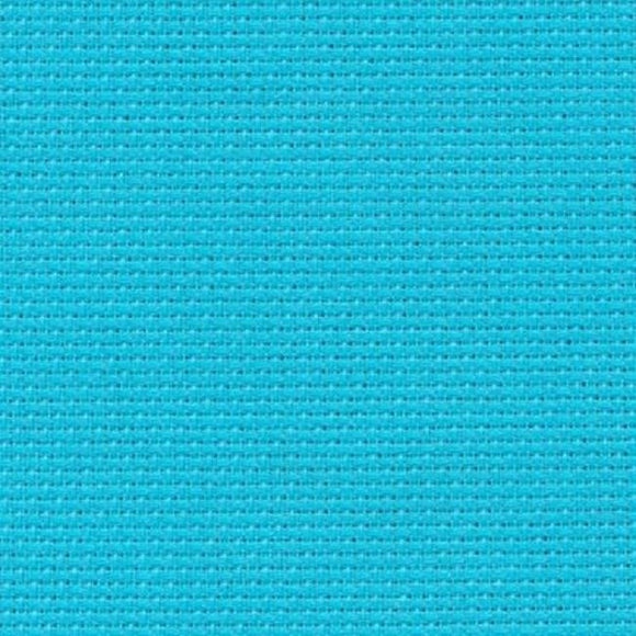 Aida 14 count Fabric, Zweigart 14ct FAT QUARTER -Aqua Blue 5142