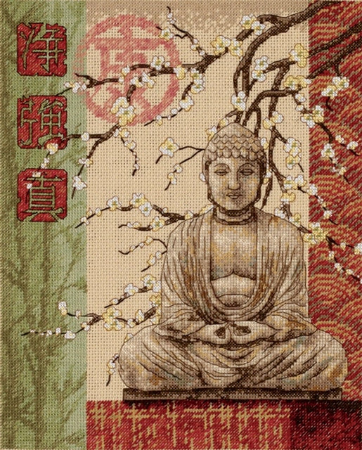 Buddha Purity, Strength, Truth Cross Stitch Kit, Dimensions D35220