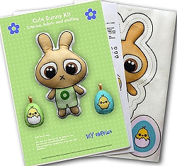 Green Bunny Soft Toy Making Kit, DIY Fluffies