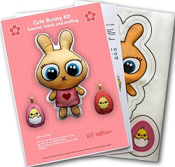 Pink Bunny Soft Toy Making Kit, DIY Fluffies
