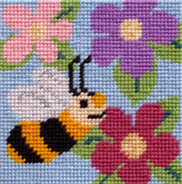 Beginners Tapestry Kit Needlepoint Kit, Busy Bee, Sew Inspiring