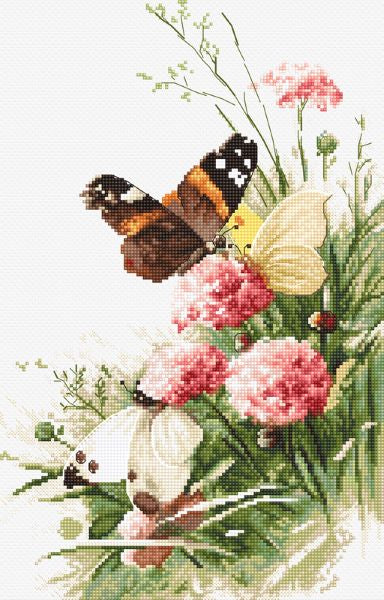 Butterflies in the Field Cross Stitch Kit (Luca-s) LetiStitch LETI938