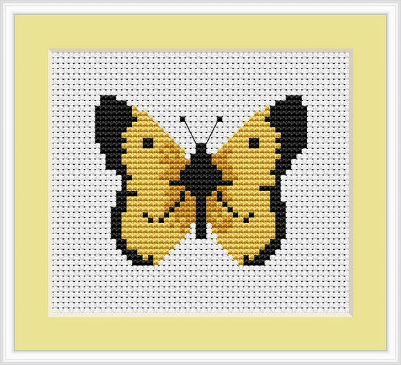 Butterfly Cross Stitch Kit Mini, Riolis B004