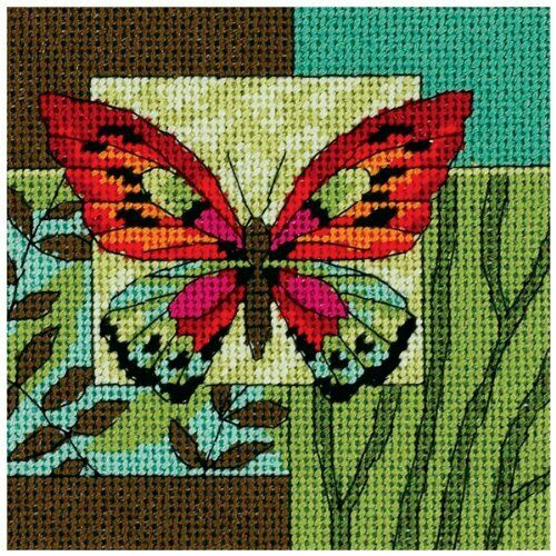 Butterfly Impression Tapestry Needlepoint Kit, Dimensions D07222