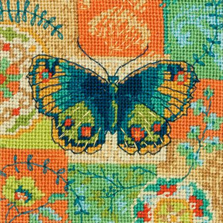 Butterfly Pattern Tapestry Needlepoint Kit, Dimensions D71-07243