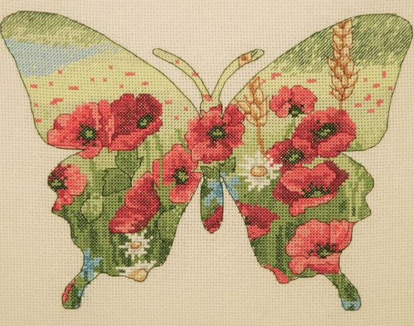 Butterfly Silhouette Cross Stitch Kit, Maia 5678000-5044