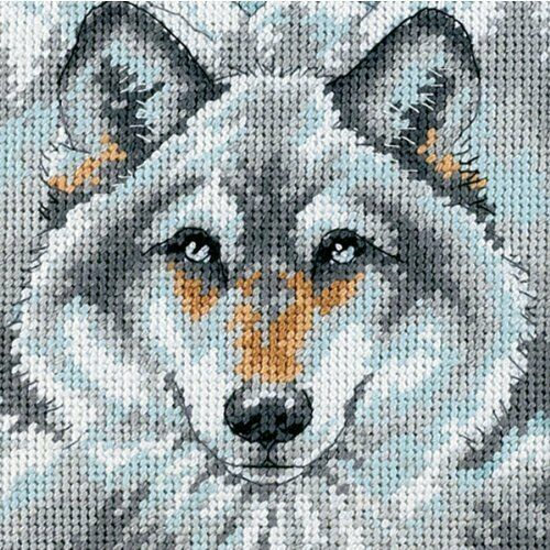 Call of the Wolf Tapestry Needlepoint Kit, Dimensions D07211