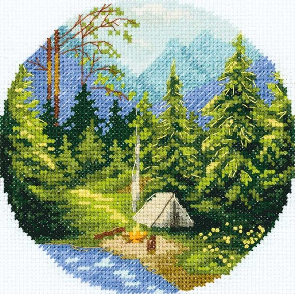 Campfire Cross Stitch Kit, Panna PS-7075