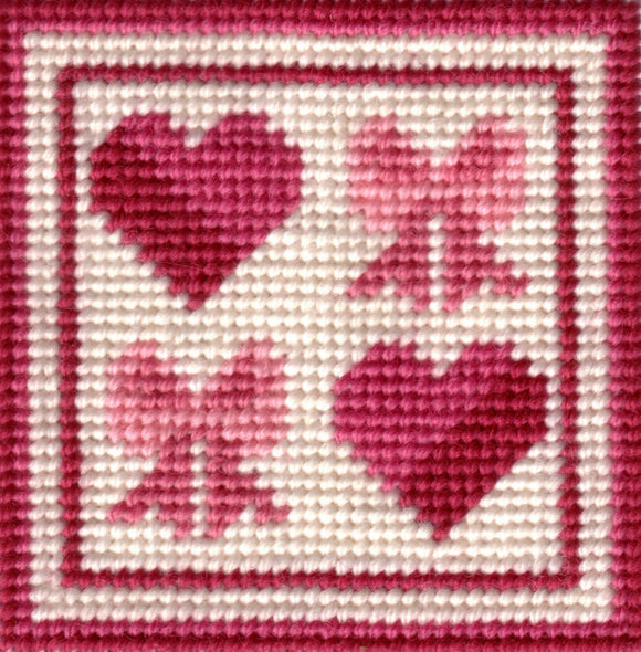 Beginners Tapestry Kit Needlepoint Kit, Candy Hearts and Bows