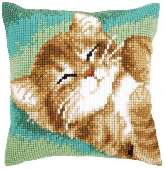 Cat CROSS Stitch Tapestry Kit, Vervaco pn-0157982