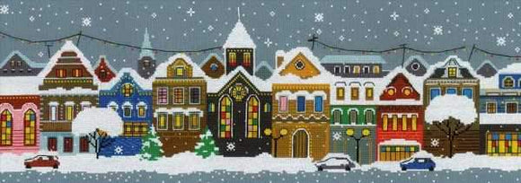 Christmas City Cross Stitch Kit, Riolis R1683