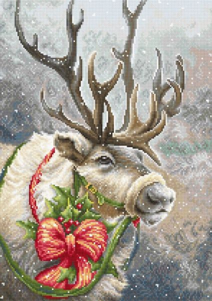 Christmas Deer Cross Stitch Kit, Luca-s B598