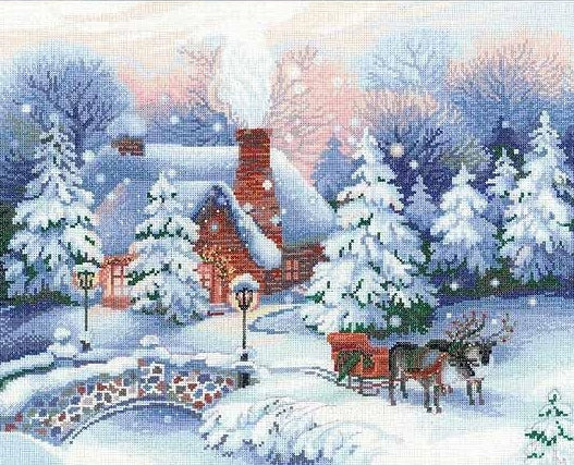 Christmas Eve Cross Stitch Kit, Riolis R100/041