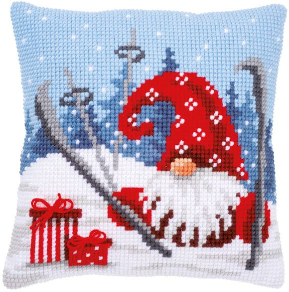 Christmas Gnome CROSS Stitch Tapestry Kit, Vervaco pn-0172808