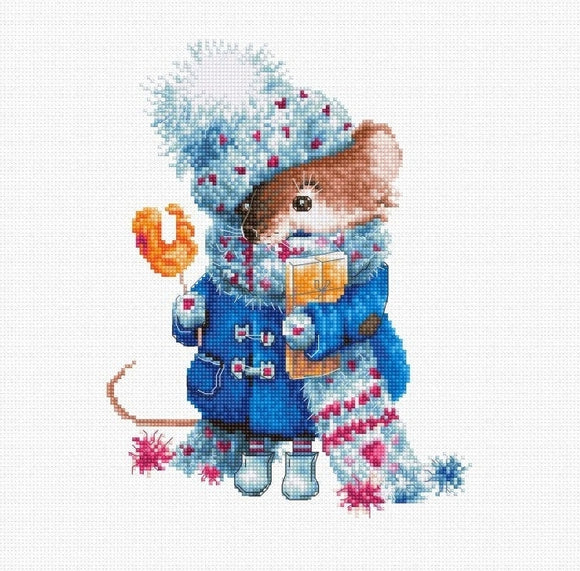 Christmas Mouse Cross Stitch Kit, Luca-s B1168