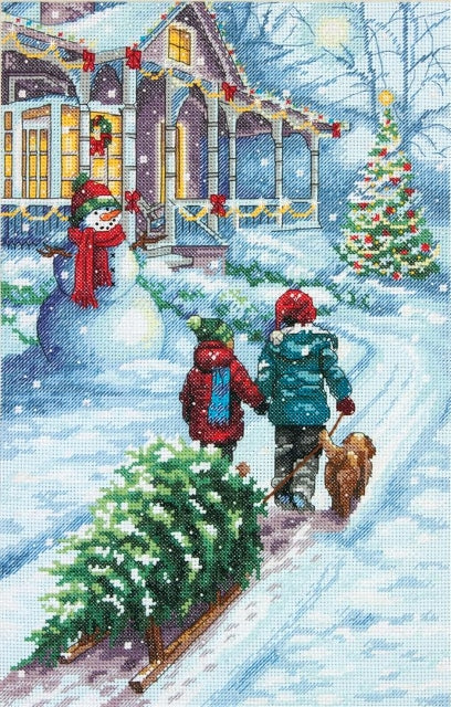 Winters Hush D70-08862 Counted Gold Cross Stitch Kit Dimensions