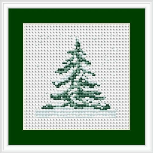 Christmas Tree Cross Stitch Kit Mini, Luca-s B012
