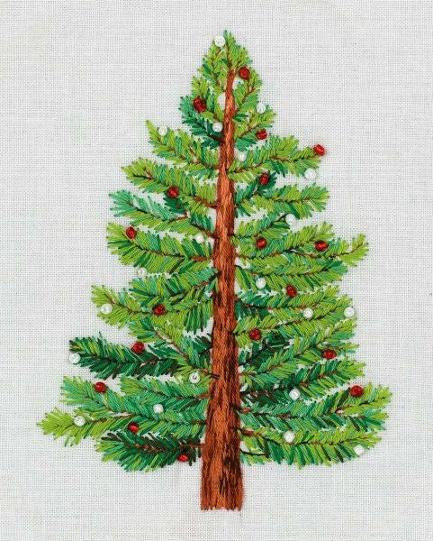 Christmas Tree Embroidery Kit, Panna JK-2190