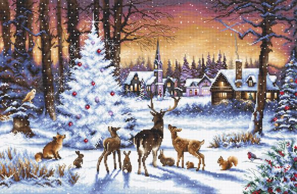Christmas Wood Cross Stitch Kit (Luca-s) LetiStitch LETI947