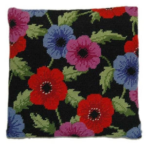 Tapestry Kit Anemones Cushion / Herb Pillow, Cleopatra's Needle