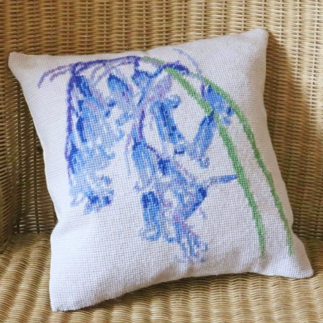 Tapestry Kit Bluebells Cushion / Herb Pillow, Cleopatra's Needle