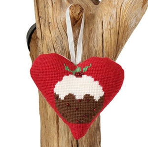 Tapestry Kit Christmas Pudding Heart, Cleopatra's Needle