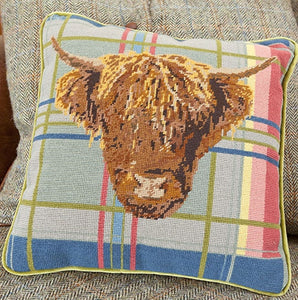 Tapestry Kit Highland Cow Tapestry Cushion, Cleopatra's Needle