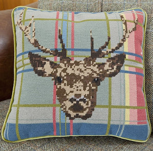 Tapestry Kit Highland Stag Tapestry Cushion, Cleopatra's Needle