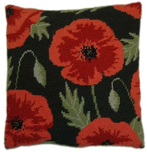 Tapestry Kit Wild Poppy Cushion / Herb Pillow, Cleopatra's Needle